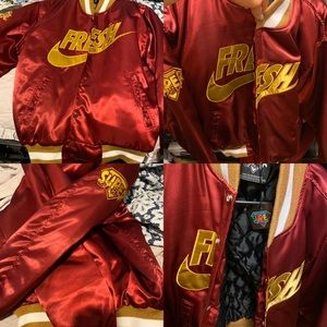 RARE Superfresh Clothes University Bomber Jacket S